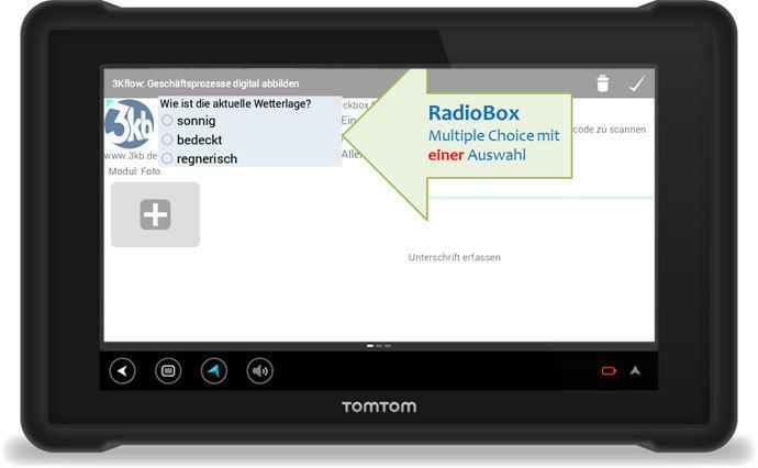 3Kflow Geschäftsprozesse digital abbilden RadioBox