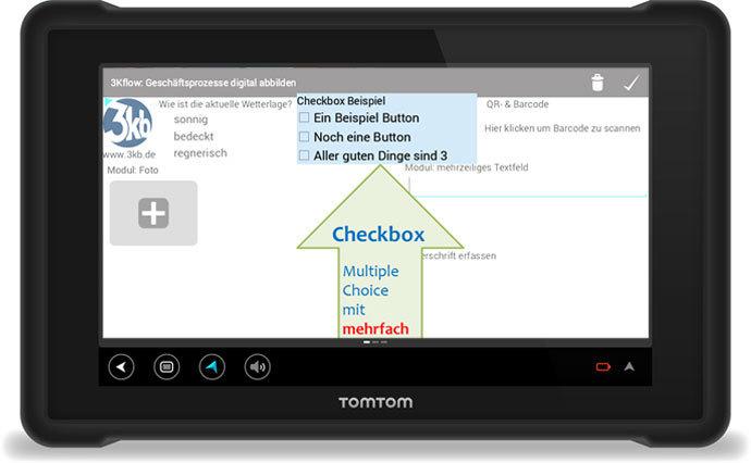 3Kflow Geschäftsprozesse digital abbilden Checkbox