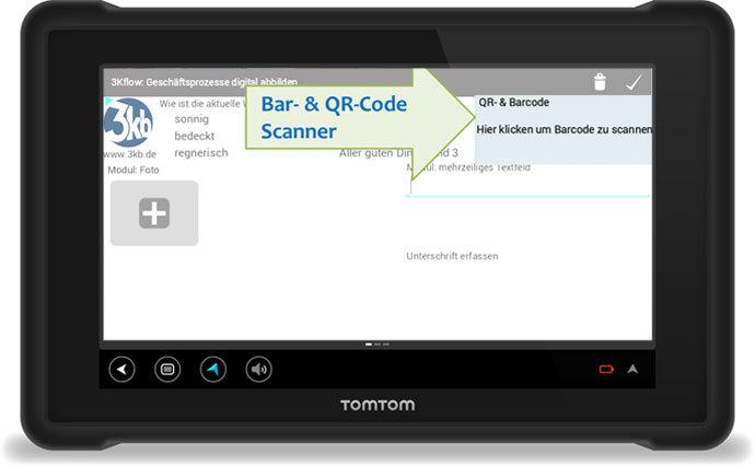 3Kflow Geschäftsprozesse digital abbilden Bar-&QR-Code Scanner