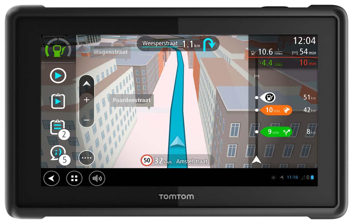 TomTom pro-827x mit laufender Navigation