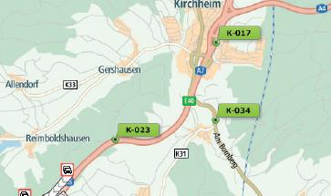 Kartenübersicht mit Fahrzeugortung